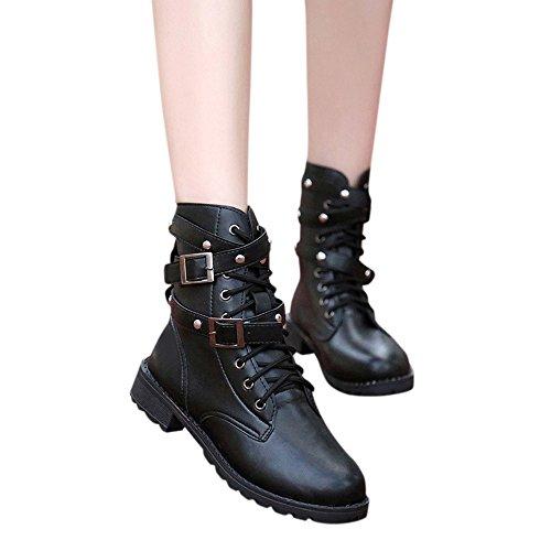 TianWlio Boots Stiefel Schuhe Stiefeletten Frauen Herbst Winter Weiche Flache Knöchelschuhe...