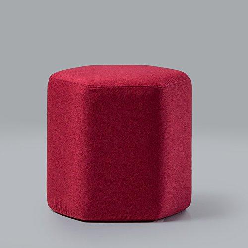 Stool Dana Carrie Le Service est Simple et Moderne Tabouret Tabouret Bas créatifs Tissus vêtements Portez des Chaussures la Selle Accueil Salon canapé Qui est Rouge