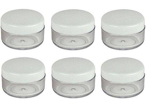 3 G 3 gram 3 ml rond vide Pot de crème de pots cosmétiques Plastique échantillon vide Conteneur Lot Pot de crème pour maquillage fard à paupières poudre de lait pour le nail art Lip-balm Perles Bijoux Blanc