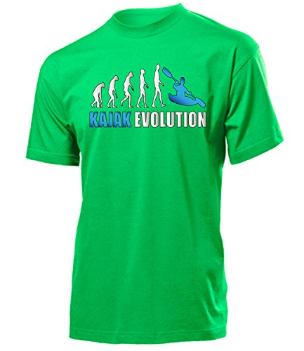 Kajak Evolution 619 Herren T-Shirt (H-Kellygreen-Weiss-Blau) Gr. M