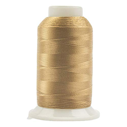 wonderfil invisafil Specialty Gewinde, 2 lagig cottonized Weiches Polyester, 100 wt - Neutral Hues 2500m Soft Tan