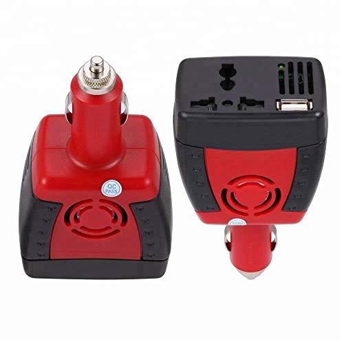 DOLPHINEGG 150W Power Inverter DC 12V bis AC 220V Dual Socket Car Voltage Converter mit USB-Sparteiler Car Charger -