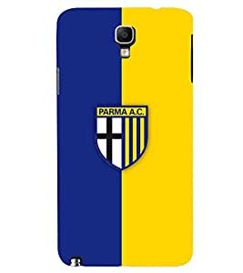 TOUCHNER (TN) Blue Yellow Logo Back Case Cover for Samsung Galaxy Note 3 Neo N7505