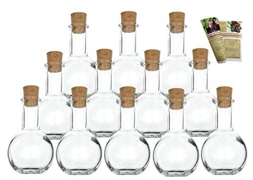 gouveo 24er Set leere Glasflaschen
