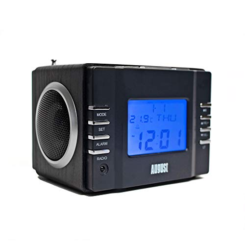 August MB300 - Radio FM MP3 Alarma Despertador - Reproductor