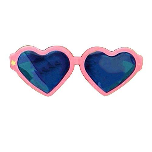 Kicode Herz geformt Mode übergroß Retro Sonnenbrille Blaue Linse Nette Liebe Eyewear Für Gunstfoto Halloween Party (Lustige Halloween Kostüme Für Arbeit)