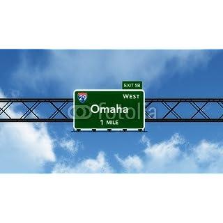 adrium Omaha USA Interstate Highway Sign (78333997), Canvas, 110 x 60 cm