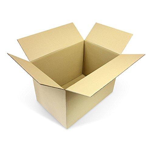 10 Faltkartons 600 x 400 x 400 mm Versandkartons aus Wellpappe 2 wellige Kartonverpackungen KK 107