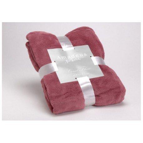 Amadeus - Couverture bébé - Plaid Doudou rose d'hiver