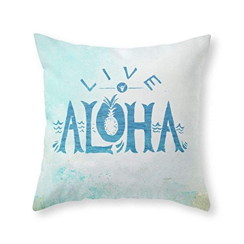 xiangwangdeli Live Aloha Throw Pillow Indoor Cover (18