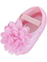 03d550fb8 Zapatos de niño Suave para niños pequeños Bebita Gasa Flor Banda elástica Zapatos  para Caminar recién