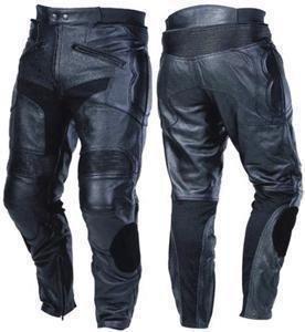 Bikers Gear LT1005Razor Sport pantalones de cuero pantalones de piel extraíble CE...