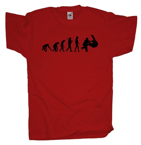 Ma2ca - Evolution - Judo Ringer T-Shirt Red