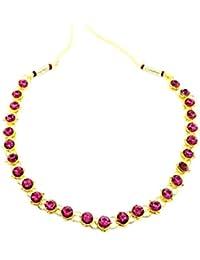 GoldNera Pretty Coloured American Diamond Stone Necklace & Set Bollywood Style