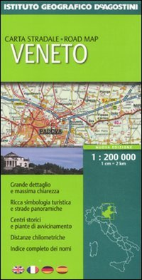 Veneto 1:200 000. Ediz. multilingue (Carte stradali regionali d'Italia)