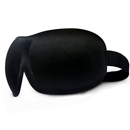 Interlock Hat (Schlafmaske , Schwarze Augenbinde ,Schlafbrille, Nachtmaske - Ein Bessere Schlaf und nicht mehr Leiden von Müdigkeit - Augenmaske gegen Licht im Flugzeug, Arbeitsplatz)