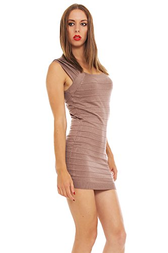5473 Fashion4Young mini-robe en tricot pour femme mini robe pull en 8 couleurs disponibles - Cinder