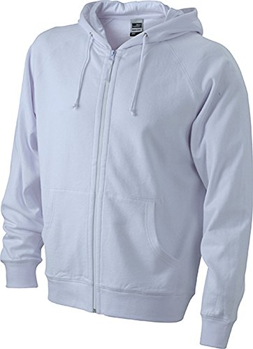 James & Nicholson Herren Sweatshirt White