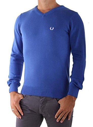 FRED PERRY - Herren Pullover V-Ausschnitt M9256 Blau
