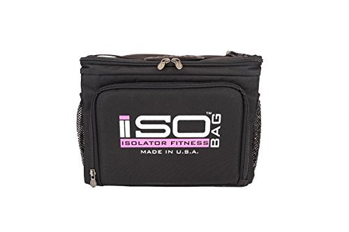 Isocube 6pasti management system/isolato pasti della borsa termica–isolator fitness, nero/rosa, 6 mahlzeiten