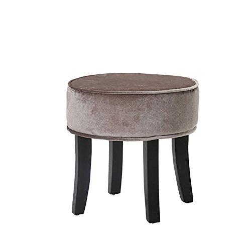 LJHA Tabouret pliable Repose-pieds en tissu créatif/solide bois salon canapé tabouret/simple petit banc/changement de chaussures tabouret (5 couleurs disponibles) chaise patchwork (Couleur : A)
