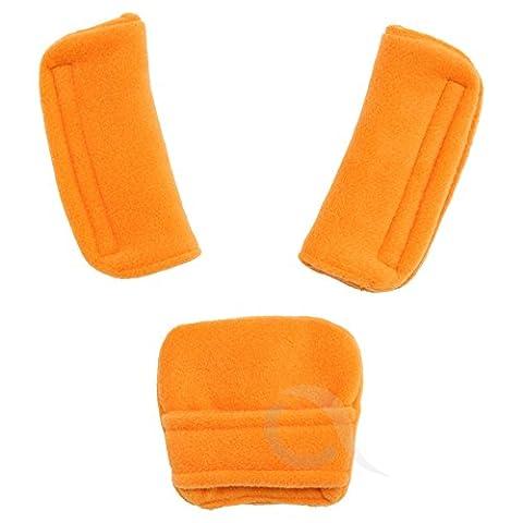 SUPER SOFT Belts Pads Shoulder Strap and Crotch Cover fits ALL ( orange )