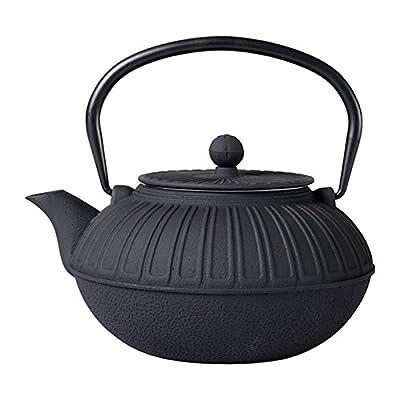 Sema 98535 Samouraï Théière avec Intérieur Emaillé Fonte Noir 20,5 x 15 x 21 cm 1,5 L