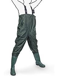Wathose Anglerhose Watstiefel Watt Fisch Teich Gummi PVC Nylon Gr. 40 - 47