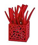 Vialli Design 230393 Besteck Set, 24-teilig Mia, rot