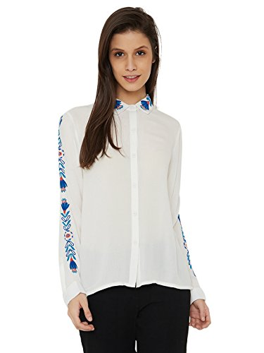 Chumbak Happy Flowers Ivory Regular Shirt