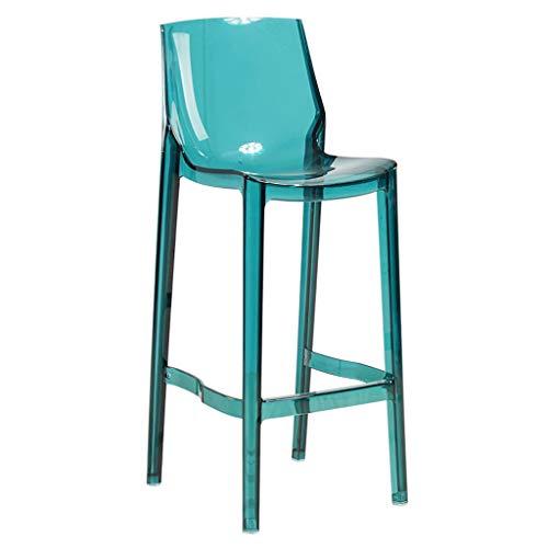 LXYFMS Tabouret De Bar Transparent, Chaise Haute en Acrylique, Tabouret De Bar, Chaise De Bar pour Dossier Chaise Pliante (Taille : 65cm)