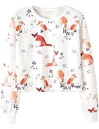 ACVIP Damen Sweatshirts Rundhals Pullover Freizeit Langarm Shirt Pullover  Jumper cea31b26b0