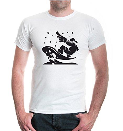T-Shirt Snowboarding Comicfigur-XXXL-White-Black (Forum Snowboard-t-shirt)