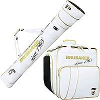 BRUBAKER Set de ski \'Grenoble\' - Housse à Skis et Sac à Chaussures de ski pour 1 Paire de Skis + Bâtons - Blanco/Dorado 170 cm