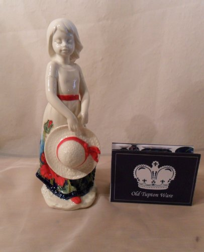 Old Tupton Ware Girl With Hat Figure - Poppy Design (Tw7991