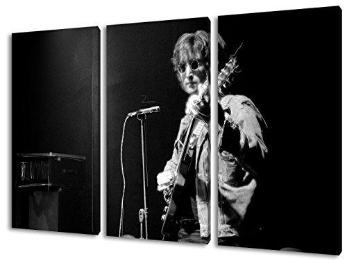 John Lennon, Tela da parete in 3 parti (120x80cm), qualità TOP! Illustrazione da parete realizzata in Germania disponibile in diverse misure, da quella piccola fino alla grande (XXL)! Stampa conveniente e incorniciata pronta per essere appesa - con motivo fantastico e unico nel suo genere. Non un semplice pos-ter, né un manifesto!