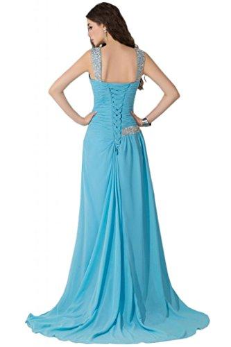 Sunvary Elegant mit Aermel Abendkleider Lang Chiffon Ballkleider  Partykleider Grün