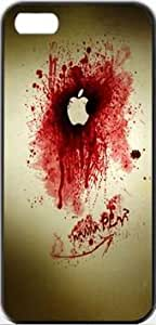 Dexter Apple Apple Logo Blood Dexter Splash Protective iPhone 5 Classic Hardshell Case Color Black