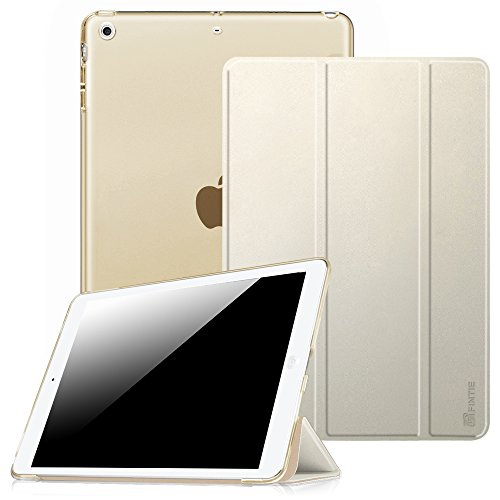 Fintie Hülle für iPad Air 2 (2014 Modell) / iPad Air (2013 Modell) - Ultradünne Superleicht Schutzhülle mit Transparenter Rückseite Abdeckung mit Auto Schlaf/Wach Funktion, Champagner Gold