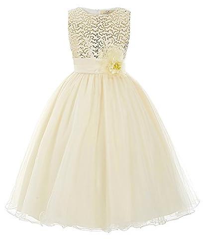 Fille Robe Princesse à Style Fille Robe du Soirée Col Rond 9~10 Ans FR8940-2