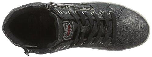 Dockers Di Gerli 35ne215-686155 Sneakers Alte Da Donna Nere (nero / Argento 155)