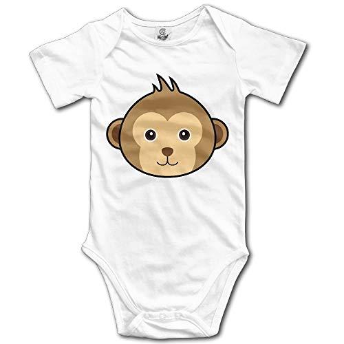 CAP PILLOW HOME Toddler Climbing Bodysuit Monkey Face Infant Climbing Short-Sleeve Onesie Jumpsuit Monkey Infant Bodysuit