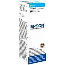 Epson T6642 - Cartucho de tinta para impresoras (Cian, Epson L100/L110/L200/L300/L355/L550)