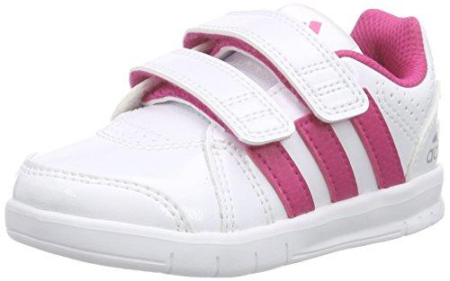 adidas LK Trainer 7 CF, Baskets premiers pas mixte bébé Blanc - Weiß (Ftwr White/Eqt Pink S16/Mid Grey S14)