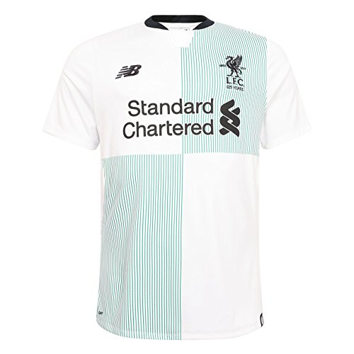 abd5e8838ce Liverpool F.C. New Balance Polyester White Mens Replica Away T Shirt Short  ...