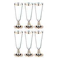 6YMN wine glasses 6Pcs Disposable Plastic Red Wine Glass Champagne Flutes Glasses Cocktail Party Wedding Drink Cup Western Cup #7889