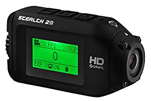 Drift Innovation Stealth 2 Weather Resistant Full HD 1080p Sports Action Camera with Wi-Fi, Mounts and Accessories - Black