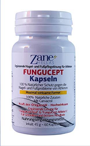 FunguCept Softgels. Zusätzliche Lösung zur Verbesserung der Nägel und Fußprobleme bei Athleten. 100% natürlich 108 mg Carvacrol. Schnellere und bessere Resultate. 60 Softgelkapseln von Zane Hellas