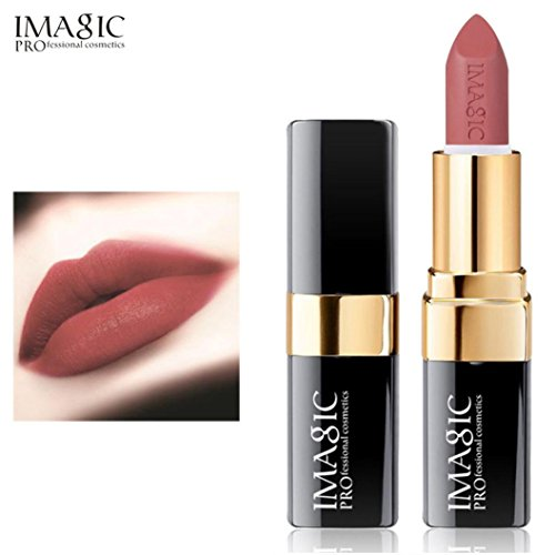 Rouge à Lèvres, Tefamore Liquide de Rouge à Lèvres Liquide hydratant en Velours Métal Rouge à Lèvres cosmétique Maquillage (7#)