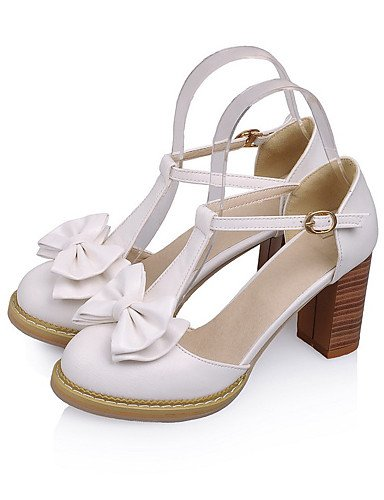 WSS 2016 Chaussures Femme-Mariage / Habillé / Décontracté / Soirée & Evénement-Bleu / Rose / Violet / Blanc-Gros Talon-Talons-Talons-Similicuir purple-us5 / eu35 / uk3 / cn34
